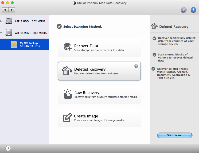 WD Mac Drive recovery