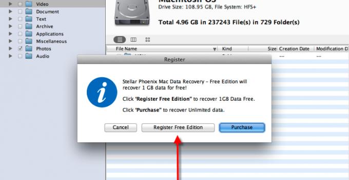 Stellar Phoenix Free Mac Data Recovery