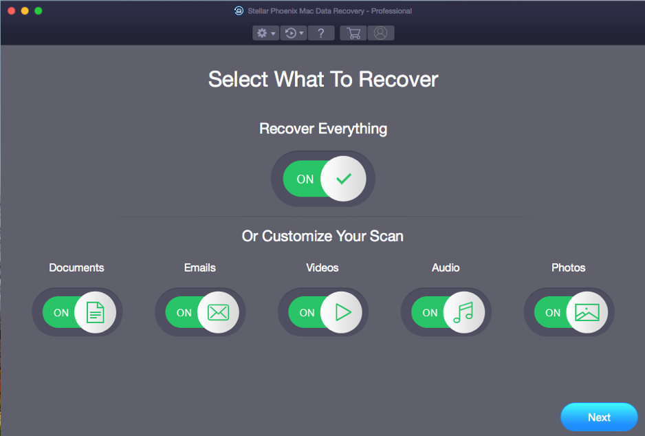 Stellar Phoenix Mac Data Recovery Professional - What to Recover