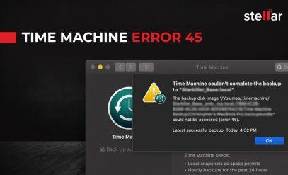 Time Machine Error 45