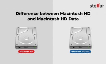Difference between Macintosh HD and Macintosh HD Data