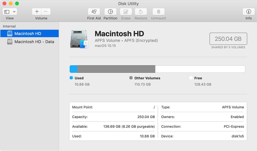 Macintosh HD and Macintosh HD Data