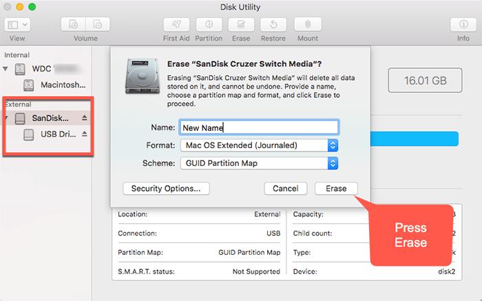 Format Mac USB Drive