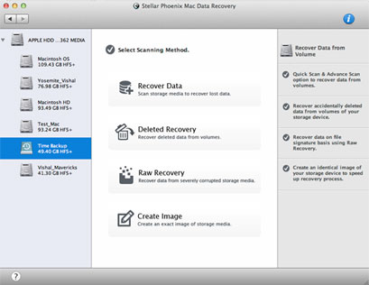 Launch Stellar Phoenix Mac Data Recovery software