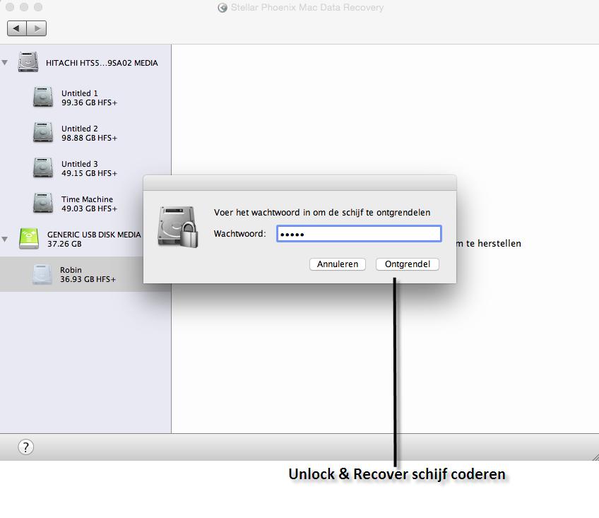 Mac Datenrettung auf verschlüsselter Festplatte
