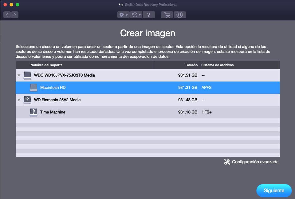 Crear una imagen de disco